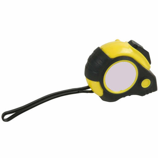 3m Tape measure with lock, including wrist wrap and belt clip. Size 8 x 6,5 x 3 cm