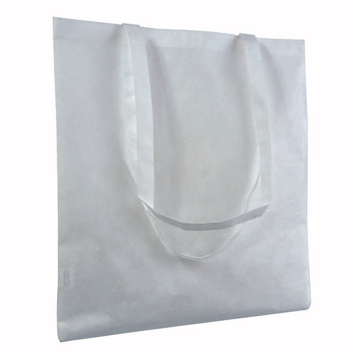 80 g/m2 non-woven fabric, heat-resistant shopping bag, suitable for sublimation printing, long handles. Product size 38 X 42 CM