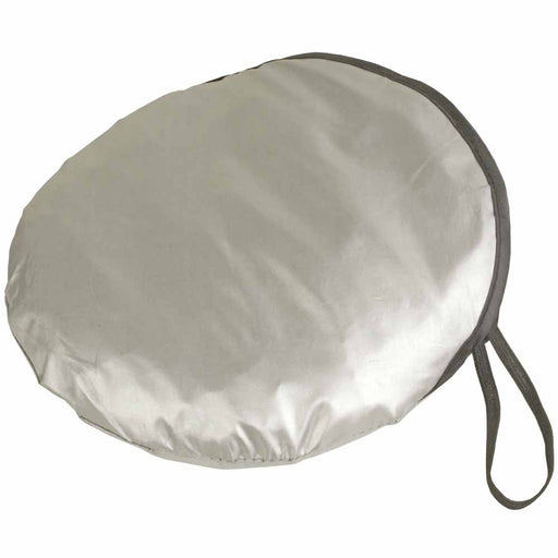 Nylon car sunshade in matching pouch. Size 150 x 70 cm. Pouch Ø 25 cm
