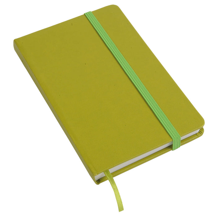 Note book / elastic and leaves no lines. Product size 9X14 CM 80 page