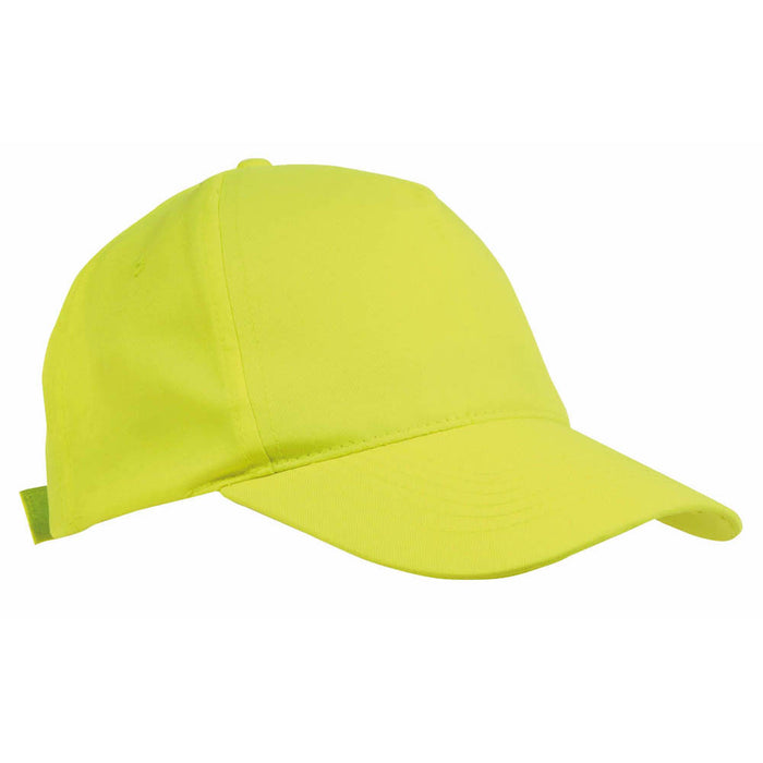 "5 panel cap for child ""hight visibility"" with reflector velcro closure"