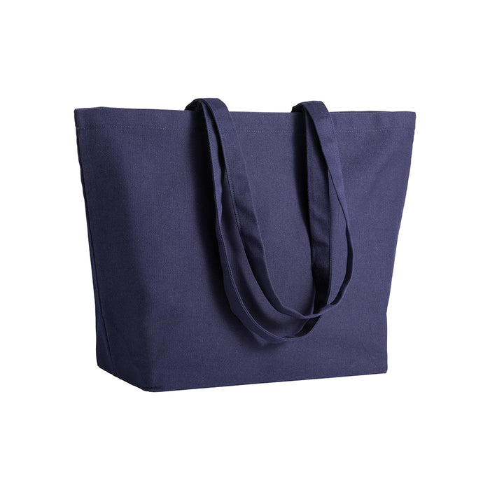 280 g/m2 cotton shopping bag, long handles and bottom gusset. Product size 50 X 35 X 16 CM