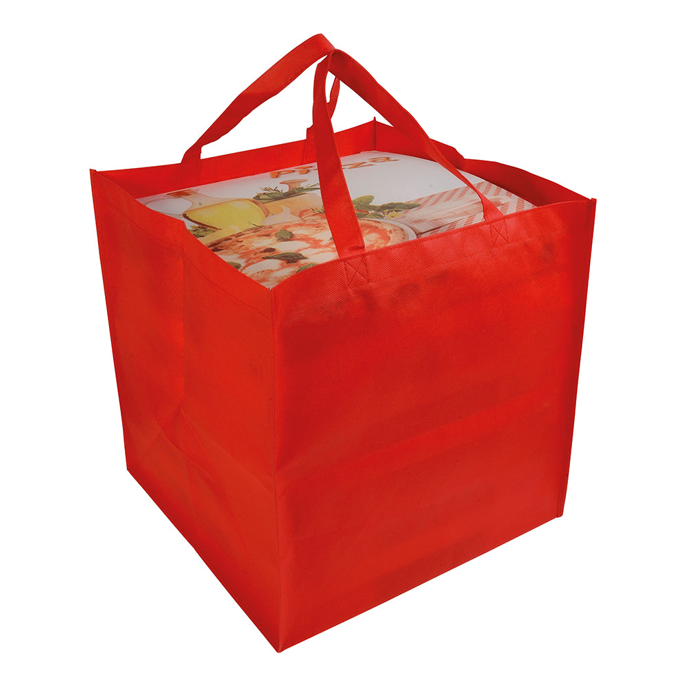 80 g/m2 non-woven fabric pizza shopping bag. Product size 36 X 37 X 36 CM