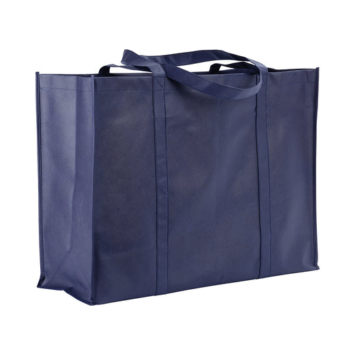 Stitched 100 g/m2 non-woven fabric maxi shopping bag with gusset and long handles. Product size 60 X 45 X 20 CM