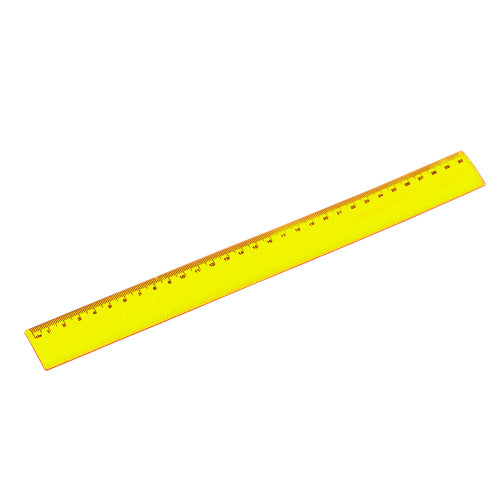 30cm flexible body ruler, with transparent body in bright tones