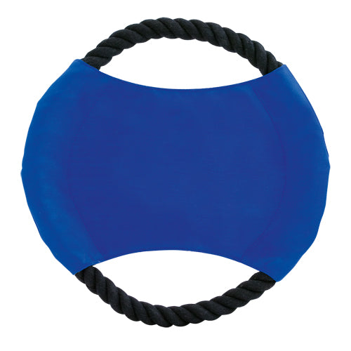 Frisbie for pets with resistant cotton rope and cotton core in bright tones