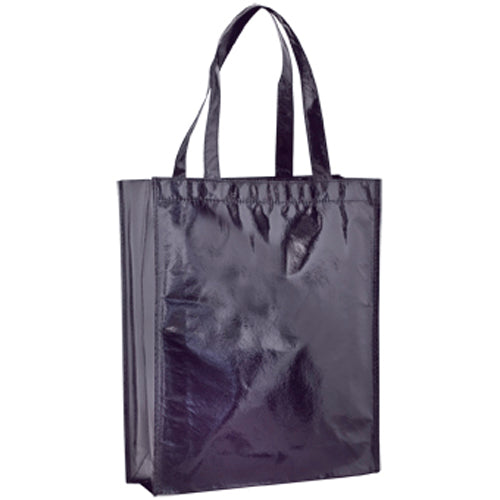Laminated non-woven bag in in 80g/m2 with metallic finish