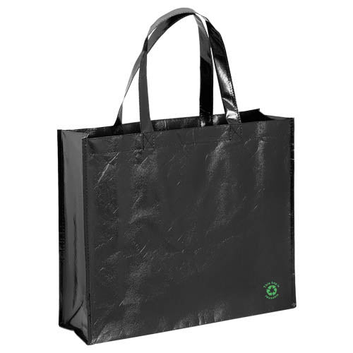 Bag in non-woven with lamination material and shiny finishing