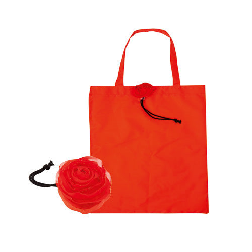 Original rose folding bag in resistant and soft polyester 190T