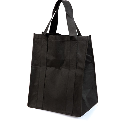 High capacity shopping bag in resistant non-woven, in a varied range of bright tones