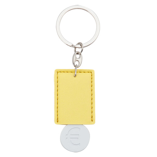 Keychain coin in fun design in varied colors with ultra flat body for pad printing