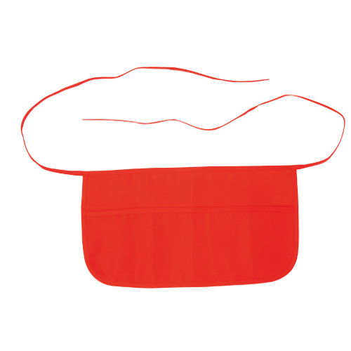 Apron for waist in 100% polyester material with soft finish in bright tones