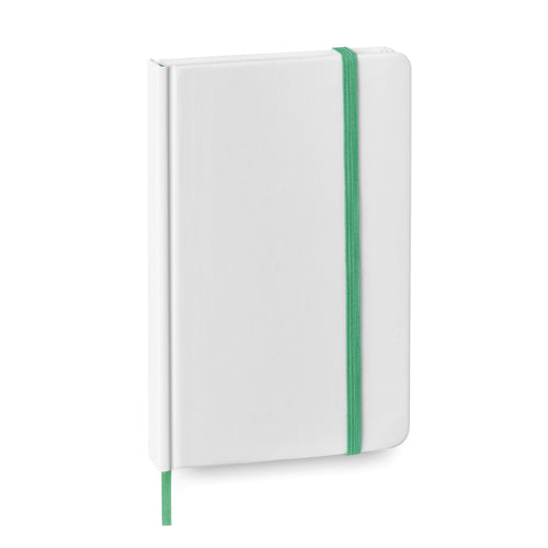 Notepad with soft-touch covers in resistant cardboard with an elegant white finish