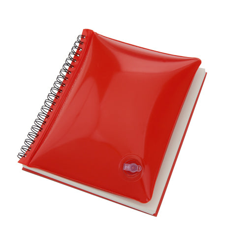 Ring notebook with inflatable cover in bright tones