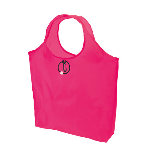 Folding bag in resistant and soft polyester 190T in bright fluorescent colors