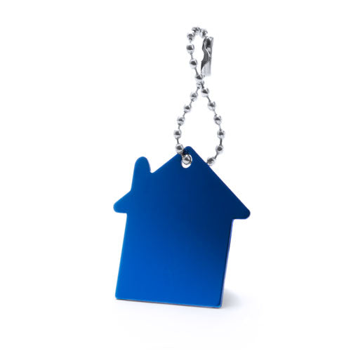Aluminum keychain with house design