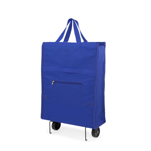 Folding shopping trolley in resistant 600D polyester, in varied range in bright tones