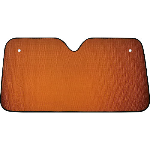 Sunshade in aluminum with bubble on both sides in a varied range of bright metallic colors