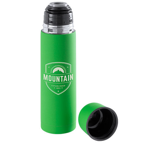 500ml stainless steel thermo bottle in brightly colored monochrome design