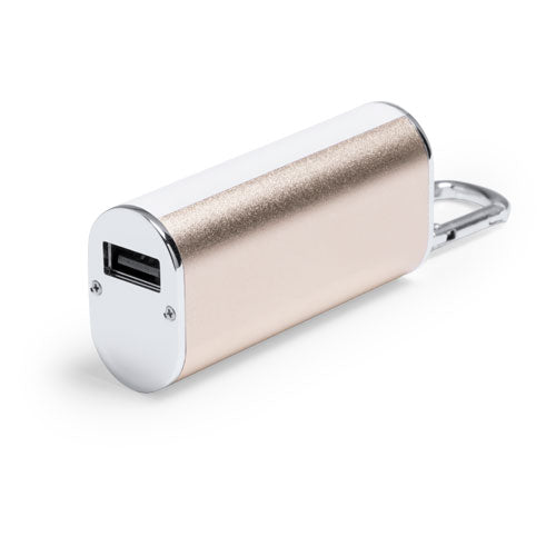 Portable battery charger in an elegant, aluminum finish