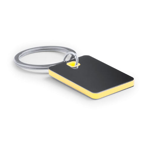 Stainless steel keychain in bicolor design in varied colors