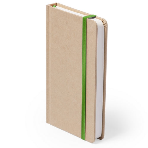 Notepad with soft touch covers in resistant natural cardboard