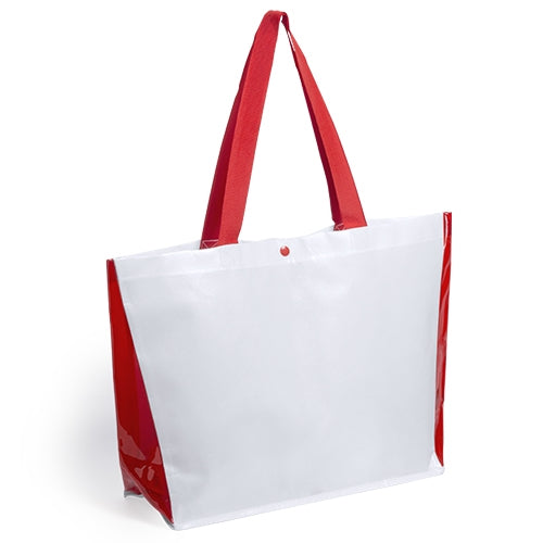 High quality bag in laminated non-woven with metallic finishing of 150g/m2