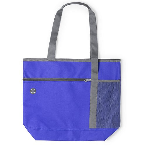 Resistant 600D polyester bag in an original bicolor design with vivid tones