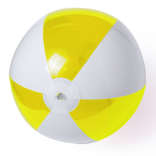 PVC inflatable balloon with bicolor design in combination of white and transparent panels in bright tones