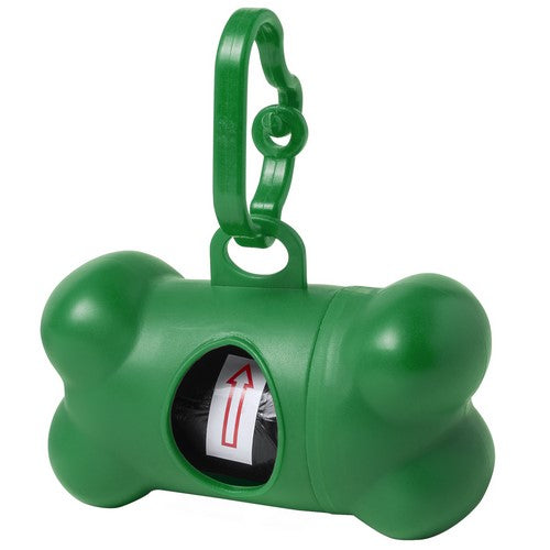 Pets bag dispenser with resistant body in vivid colors and bone design