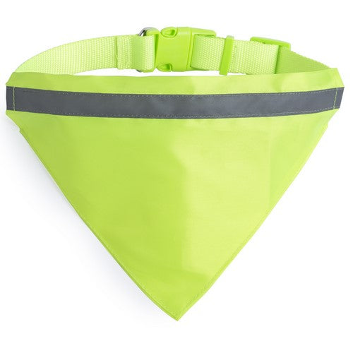 Reflective necklace bandana for pet in resistant and soft polyester of high visibility