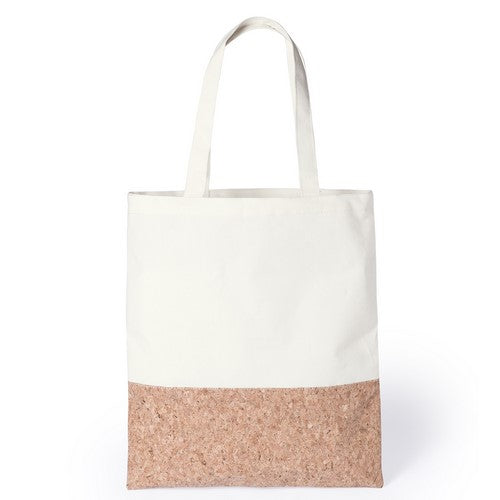 Bag of natural materials in combination of cotton and cork