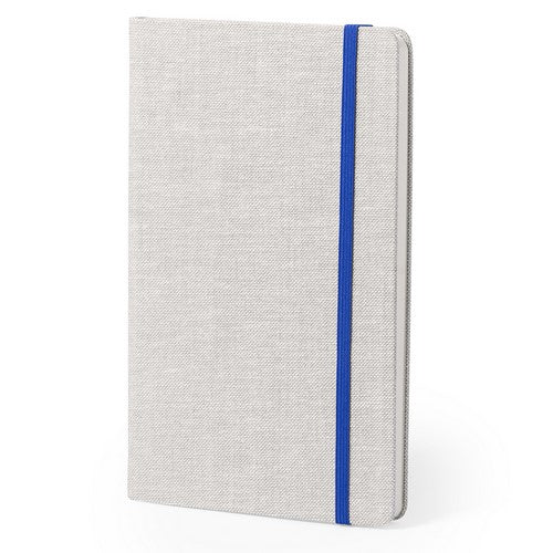 Notepad with soft-touch hard covers in an elegant combination of bicolor polyester