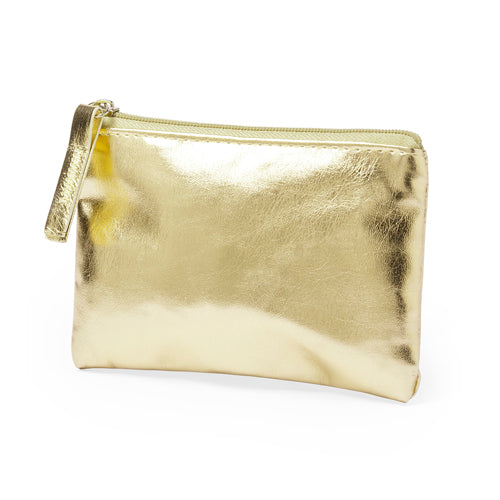 Coin purse in super cool design with soft body in shiny PU leather