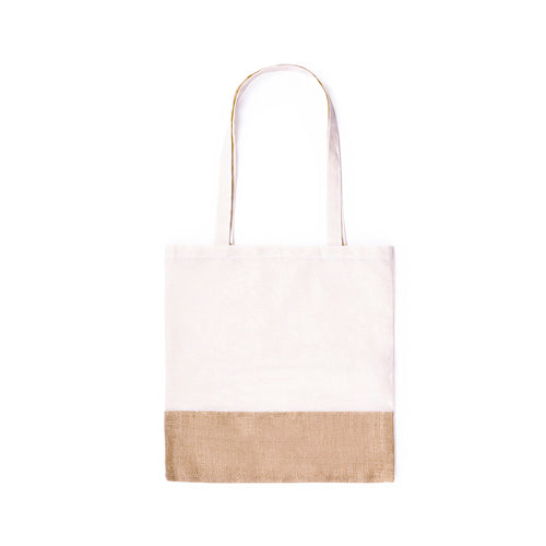 Eco-friendly bag in a resistant combination of natural materials -jute and cotton- of 245g/m2