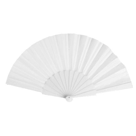Fan with plastic ribs and polyester fabric