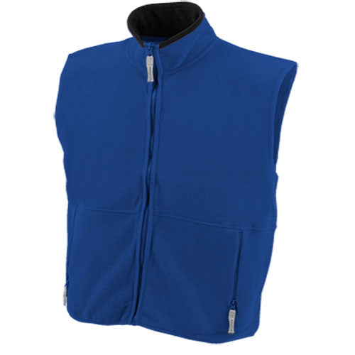 Waistcoat in warm and soft polar fleece of 280g/m2 with anti-pilling treatment