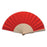 Fan with ribs in natural wood and polyester fabric