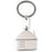 Metal keychain with fun house design in an elegant matte finish