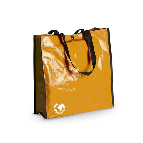 Biodegradable bag in resistant laminated material, in a wide range of bright tones