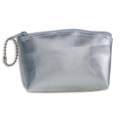 Coin purse of cheerful design with soft body in shiny PVC in varied bright tones