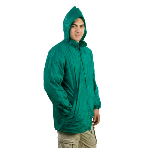 Raincoat in resistant PVC with heat-sealed finishing in a wide range of tones