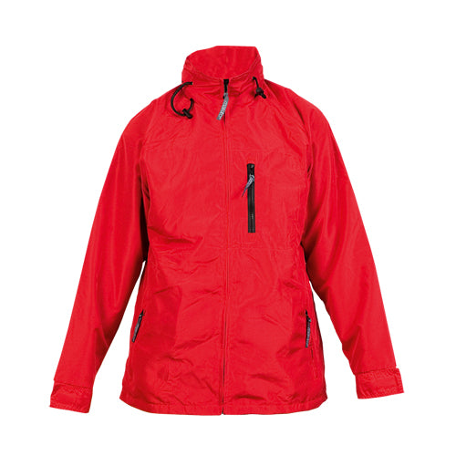 Parka with outside in soft and resistant combination of nylon materials and microfiber with vivid colors and inside in warm fleece warm fleece 200g/m2