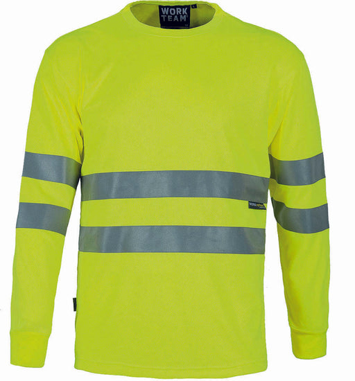 Long Sleeve T Shirts with high Visibility Stripes (EU Compliant)