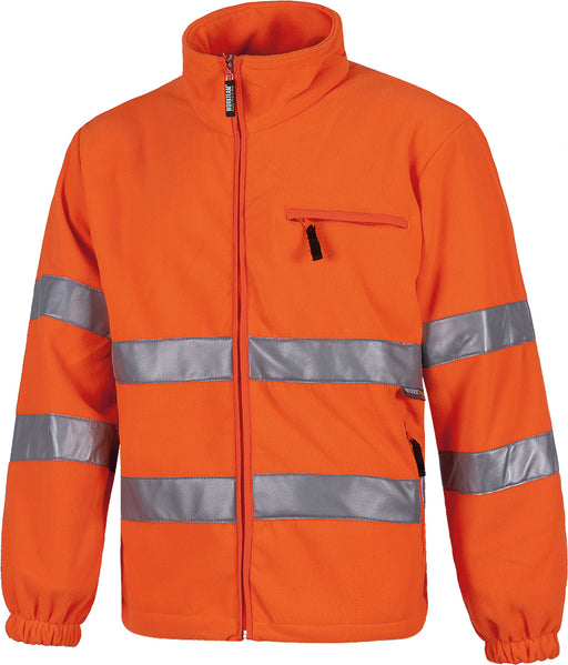 Fleeced Jacket with high Visibility Stripes (EU Compliant)
