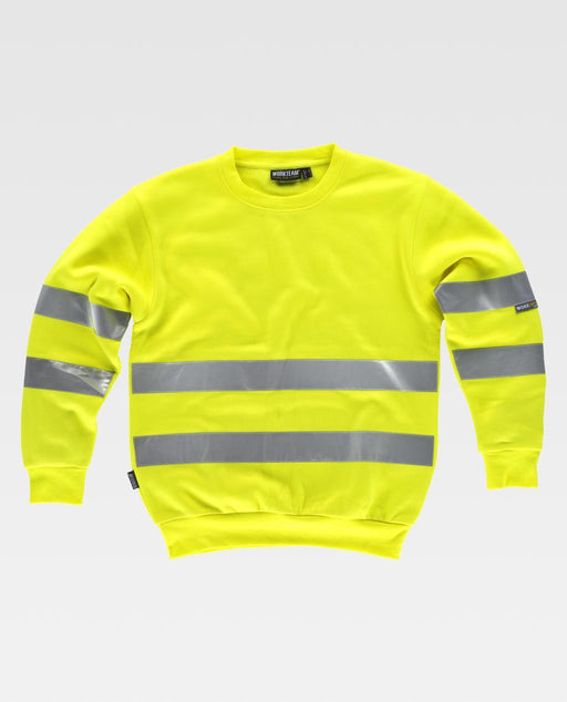 Round Neck Sweatshirt with high Visibility Stripes (EU Compliant)