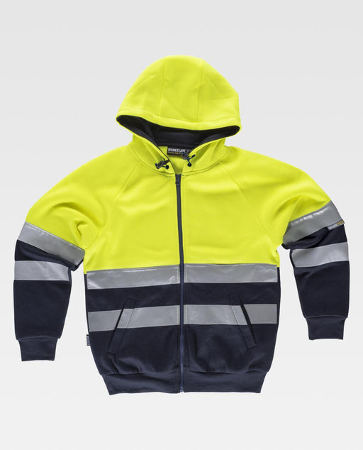 Hooded Sweatshirt with high Visibility Stripes (EU Compliant)