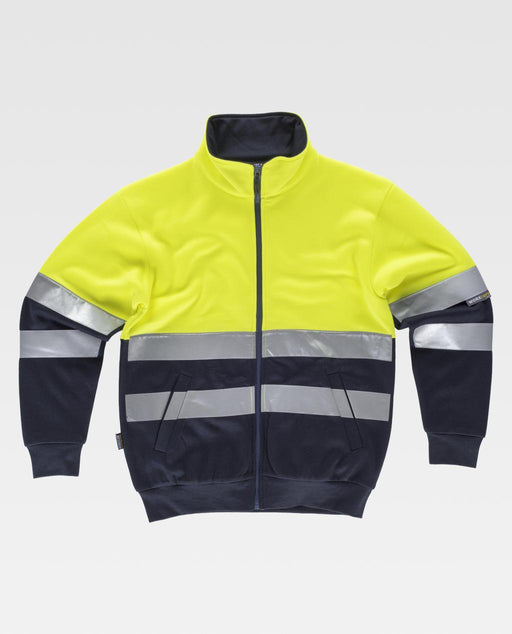 Round Neck Zip Up Jacket with high Visibility Stripes (EU Compliant)