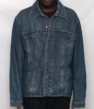 Load image into Gallery viewer, Hotel Feels Upcycled Denim Jacket XXL