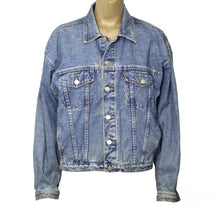 Load image into Gallery viewer, So Real Upcycled Denim Jacket M